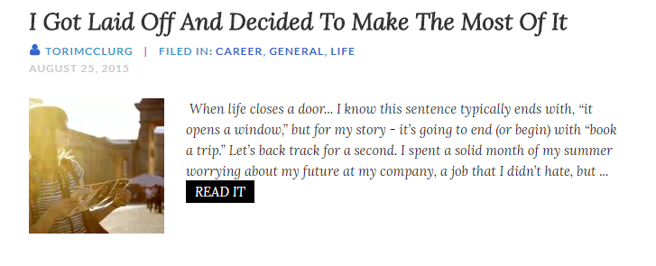 http://forevertwentysomethings.com/2015/08/25/i-got-laid-off-and-decided-to-make-the-most-of-it/